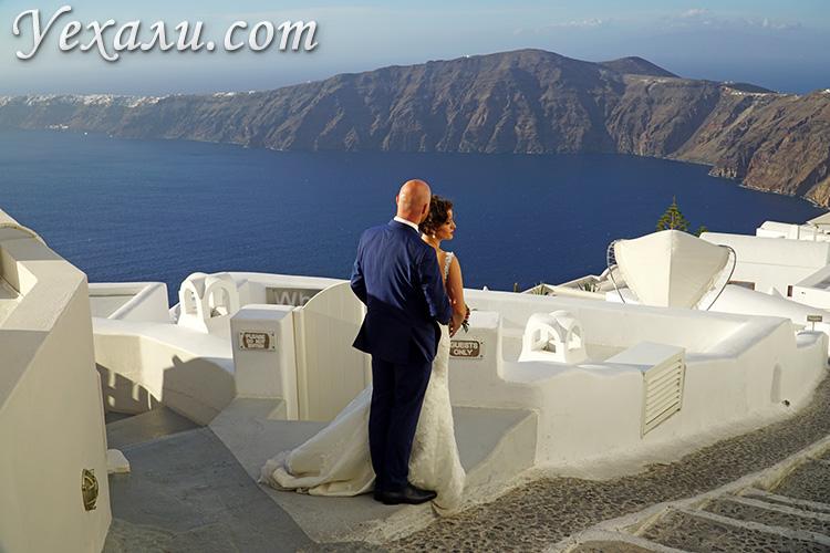 Фото свадьбы на Санторини