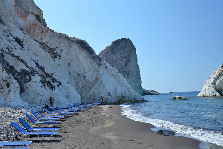 Самые красивые пляжи Санторини: Белый пляж.
