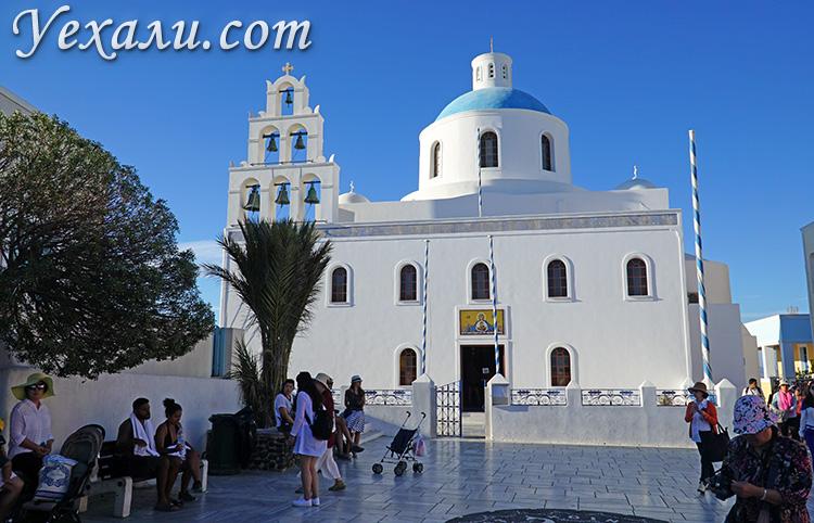 Достопримечательности Санторини, Греция: Церковь Богоматери В Ойе.