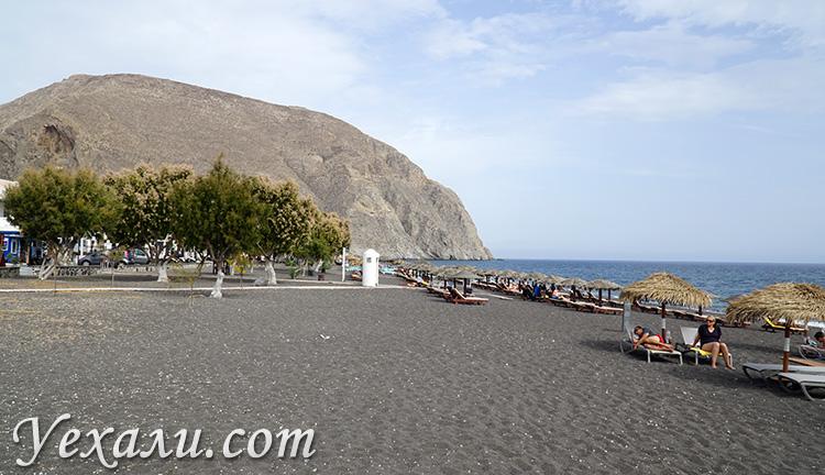 Черные пляжи Санторини, Греция: Перисса