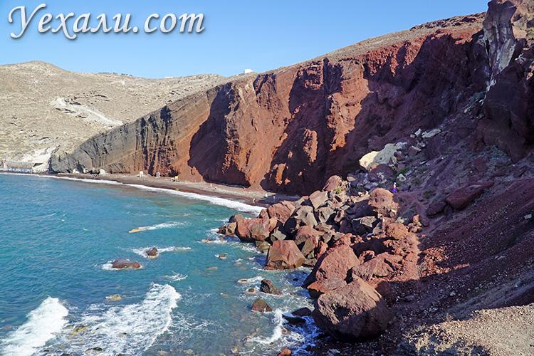 Достопримечательности Санторини, Греция: Красный пляж.