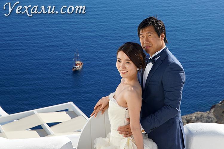 Цены на свадьбу на Санторини, Греция.