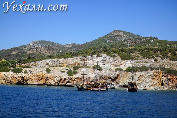 Экскурсия на корабле в Турции