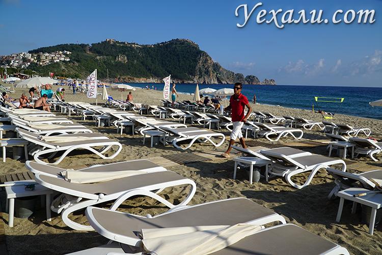 Пляж отеля Xperia Saray Beach в Аланьи