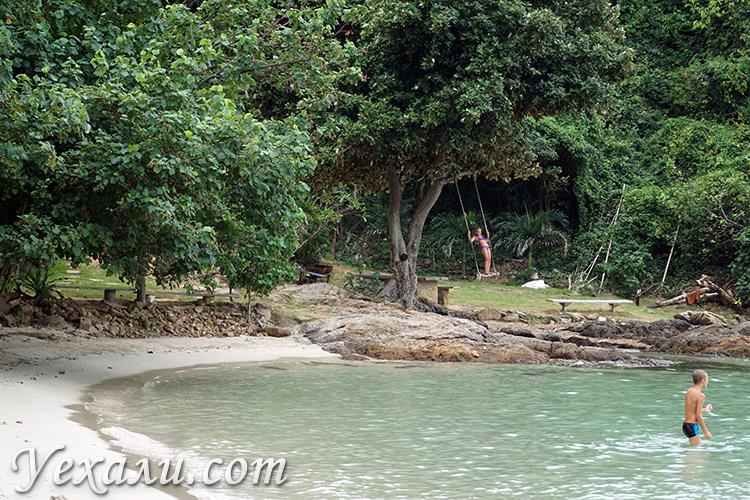 На остров Самет с ребенком