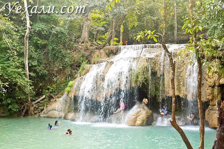 Самые красивые фото водопада Эраван в Таиланде: уровень 2.