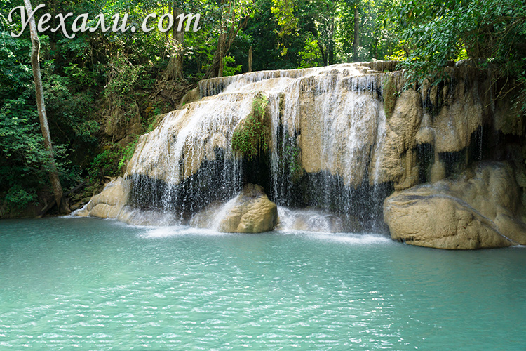 Экскурсия на реку Квай из Паттайи, фото водопада