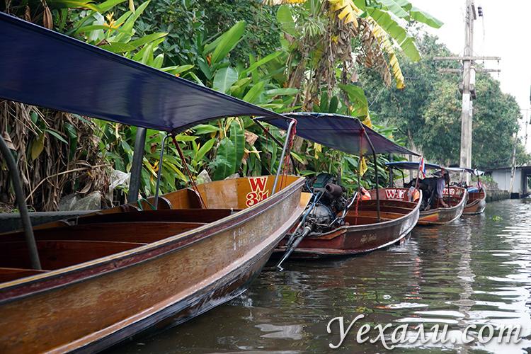 Плавучий рынок на экскурсии на реку Квай из Паттайи