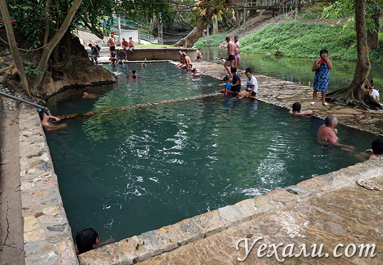Горячие источники на экскурсии на реку Квай