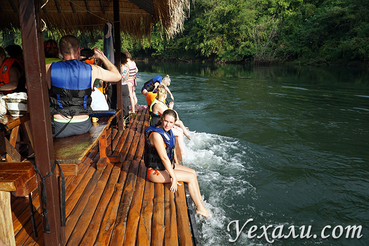 Сплав на плотах по реке Квай на экскурсии