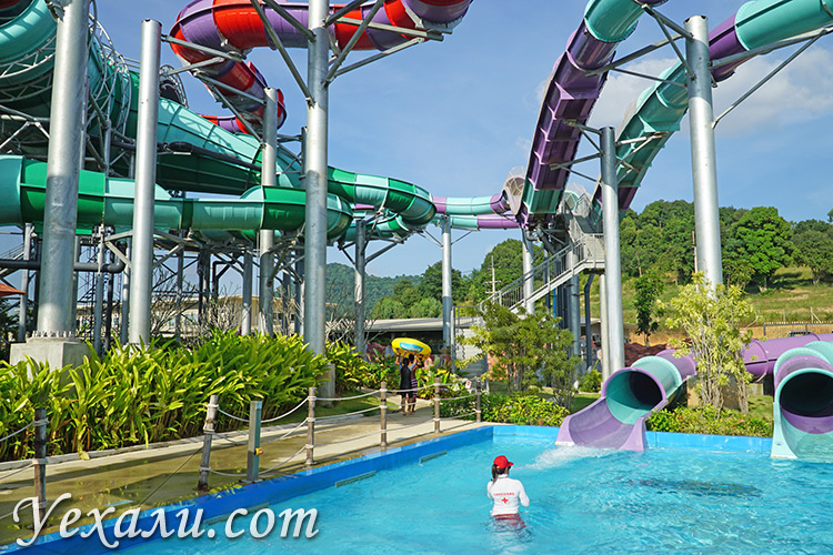 Аквапарк Ramayana Water Park в Паттайе: самая крутая горка.