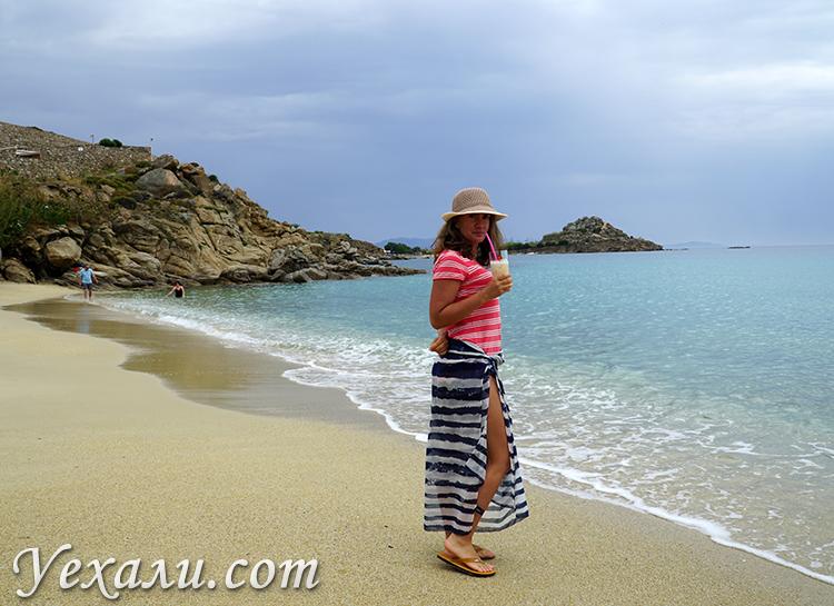 Пляж Плати Гиалос на Миконосе