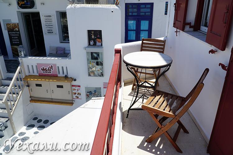 Балкон в отеле Domna Lakka на Миконосе