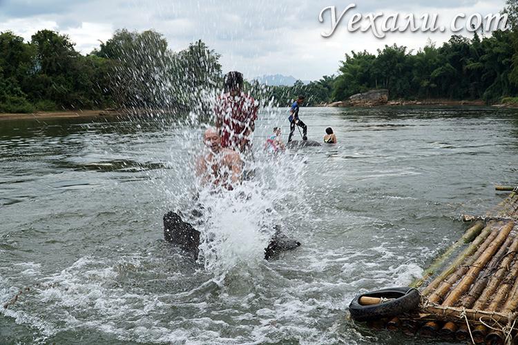 Плавание на слоне, экскурсия на реку Квай
