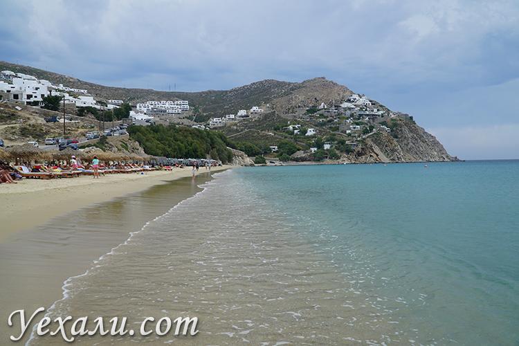 Фото пляжа Элия на Миконосе