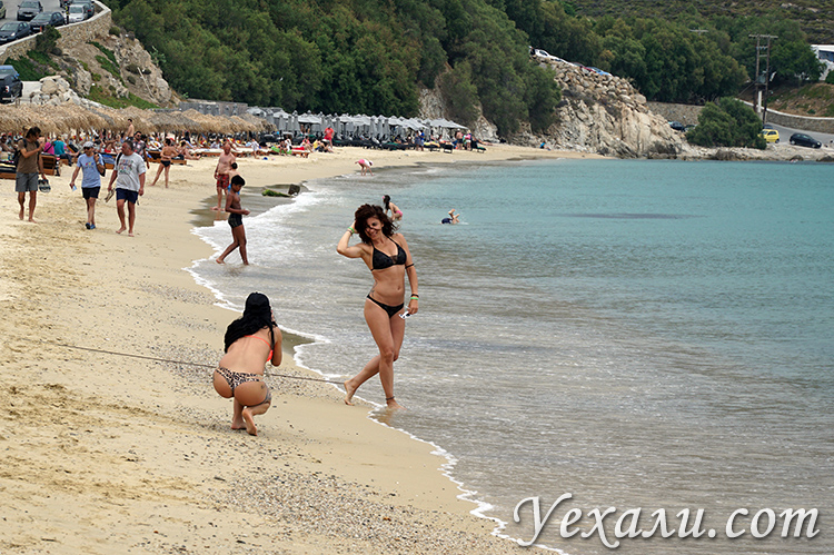 Фотосессия на пляже Элия на Миконосе