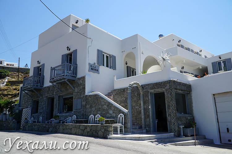 Отель Мина Бич на Миконосе