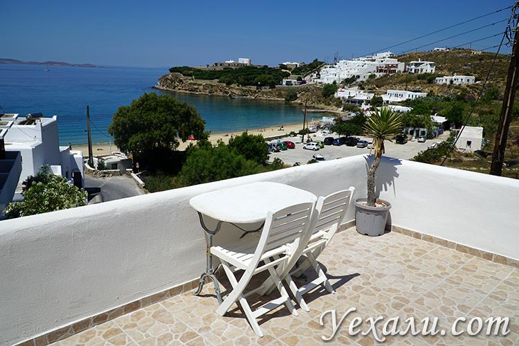 Отель на Миконосе с видом на море