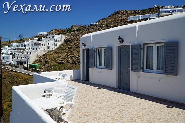 Красивый недорогой отель на Миконосе