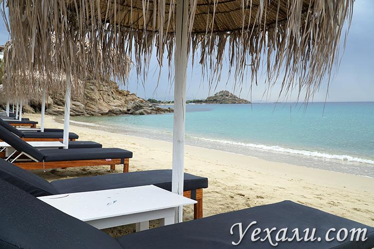 Пляж Платис Гиалос на Миконосе