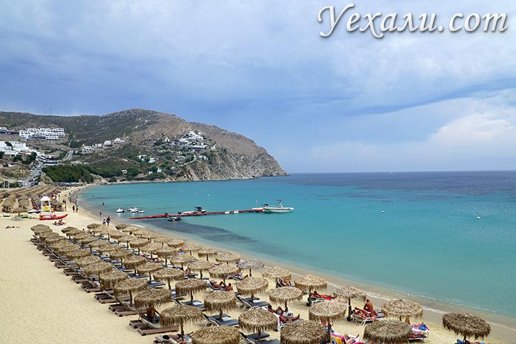 Фото: Миконос, Греция, пляж Элия.