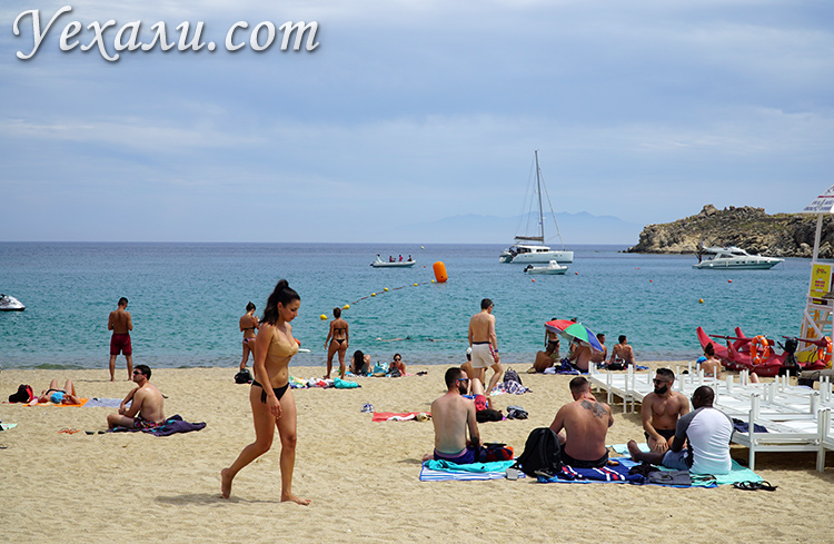 Миконос, пляж Супер Парадайз