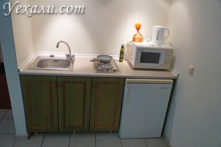 Кухня в апарт-отеле Royal Aparthotel City Centre на Родосе