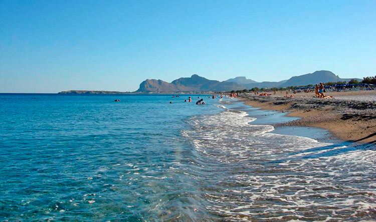 Лучшие пляжи Родоса, Греция. На фото: пляж Афанду.