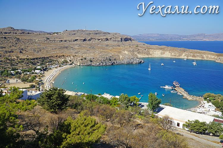 Самые красивые фото острова Родос, Греция: пляж Линдос.