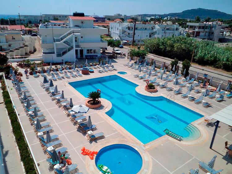 Лучшие отели Фалираки (Родос, Греция). На фото: Orion Hotel.