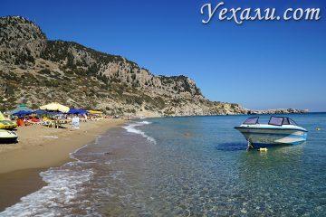 Лучшие фото острова Родос, Греция: пляж Цамбика (Тсамбика).