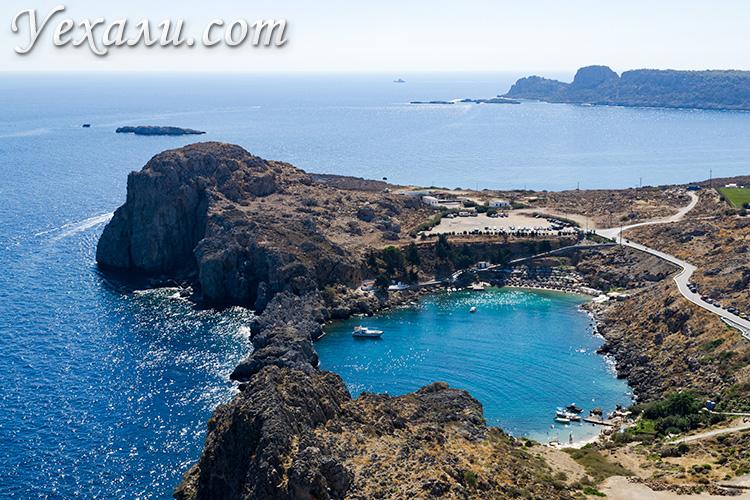 Лучшие фото острова Родос, Греция: бухта святого Павла.