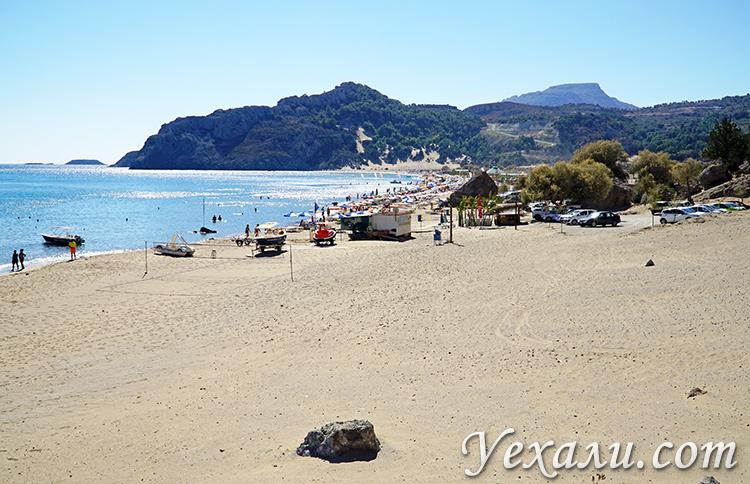 Тсамбика (Цамбика) - самый красивый пляж Родоса, Греция.