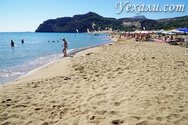 Пляж Цамбика - самый красивый пляж Родоса (Греция).
