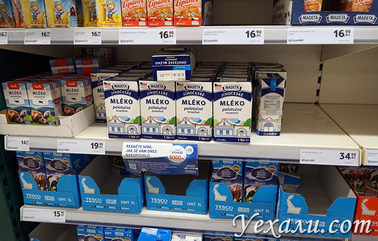 Цены на продукты в магазинах в Праге