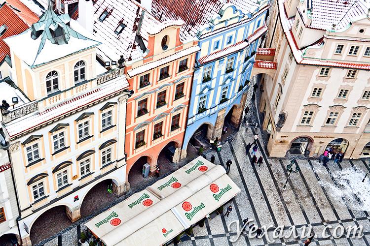 Фото Староместской площади Праги с обзорной площадки Староместской ратуши.