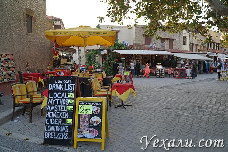Цены на Родосе (Греция) на еду.