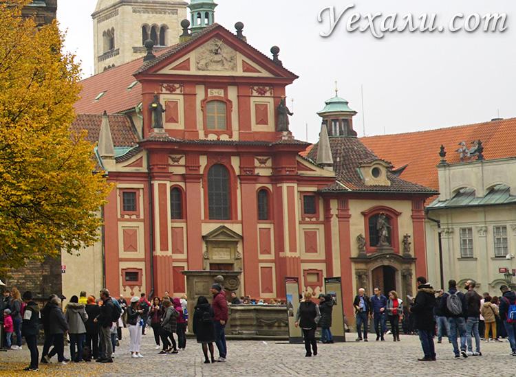 Куда сходить и что посмотреть в Праге. Базилика святого Георгия в Пражском Граде.