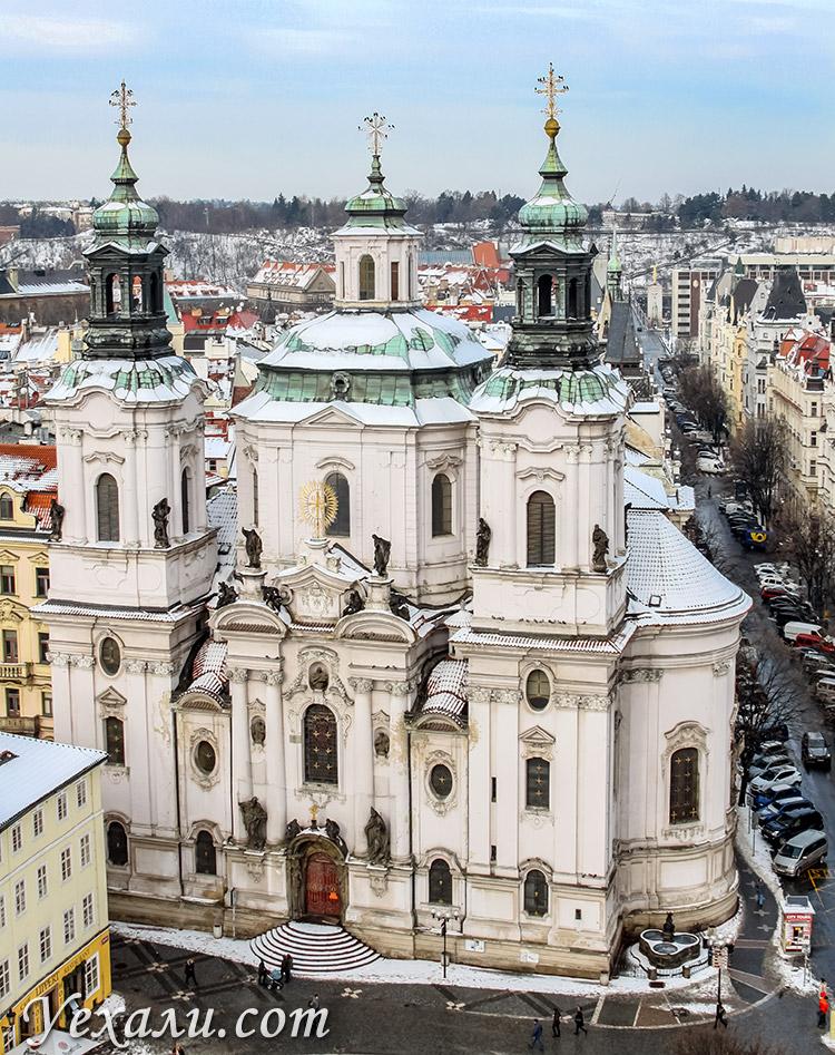 Собор святого Николая. Староместская площадь в Праге.