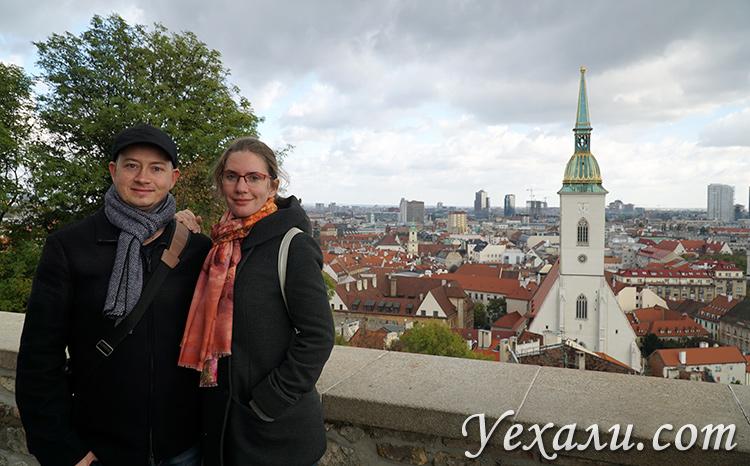 Что посмотреть в Братиславе самостоятельно. На фото: панорама Старого города.