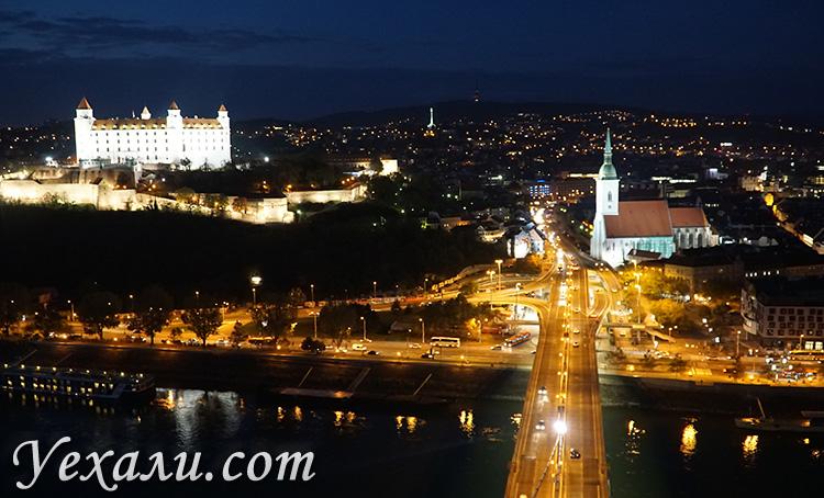 Достопримечательности Братиславы: фото Братиславского града и собора святого Мартина.