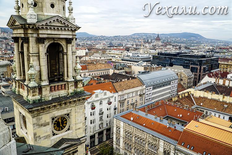 Лучшие смотровые площадки Будапешта. Фото с Базилики святого Иштвана.