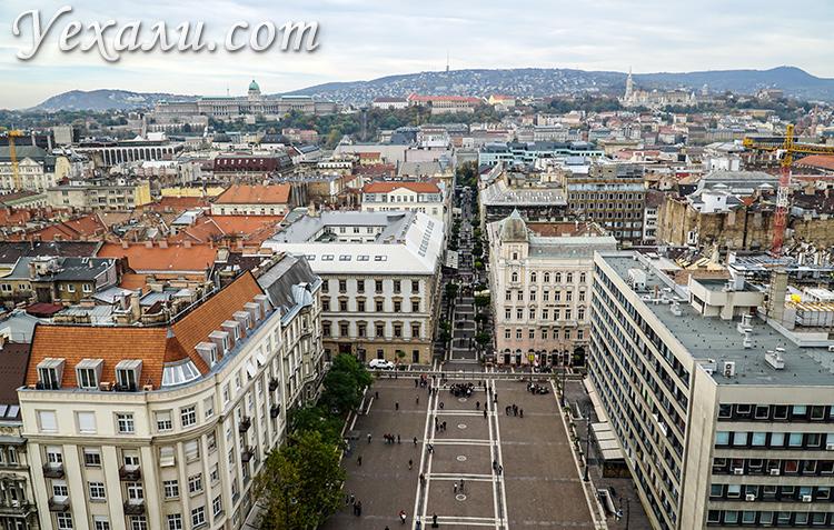 Лучшие обзорные площадки Будапешта. Фото с Базилики святого Иштвана.