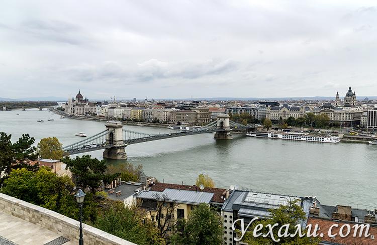 Лучшие обзорные площадки Будапешта. Фото от стен Королевского дворца.
