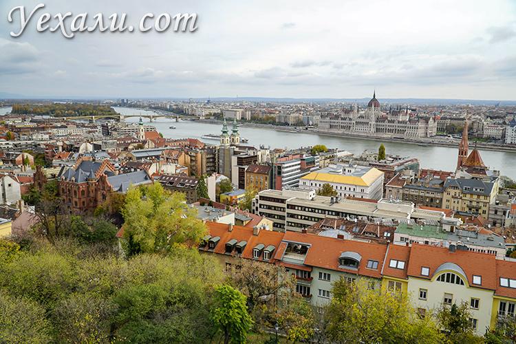 Смотровые площадки Будапешта, Венгрия. Фото с Рыбацкого бастиона.