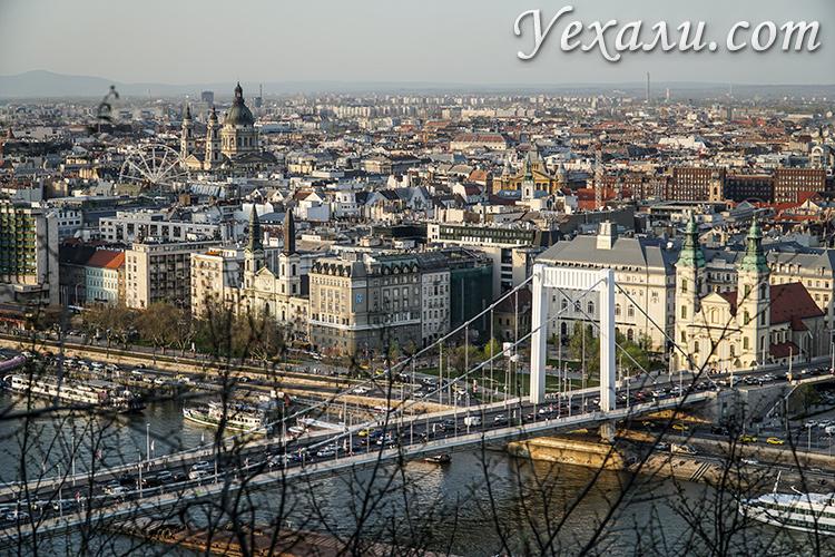 Смотровые площадки Будапешта, Венгрия. Панорамное фото города с горы Геллерт.