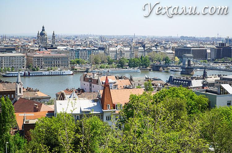 Лучшие смотровые площадки Будапешта. Фото с Рыбацкого бастиона.