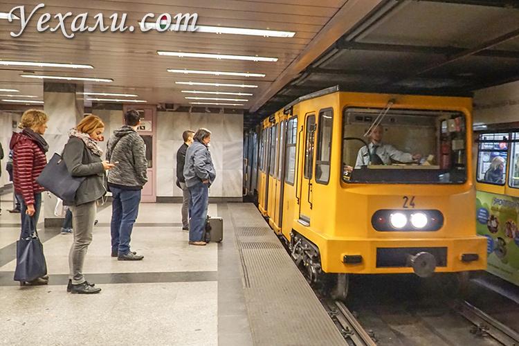 Основные достопримечательности Будапешта, Венгрия. На фото: первая линия метро.
