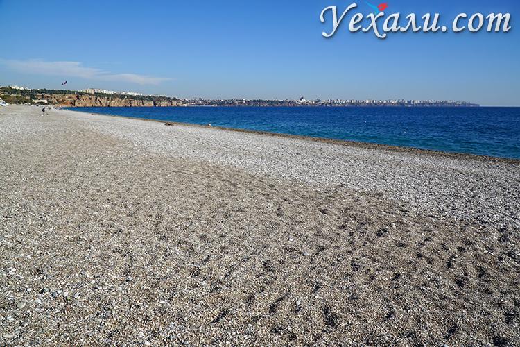 Самые красивые пляжи Турции без туристов: пляж Коньяалты, Анталья.
