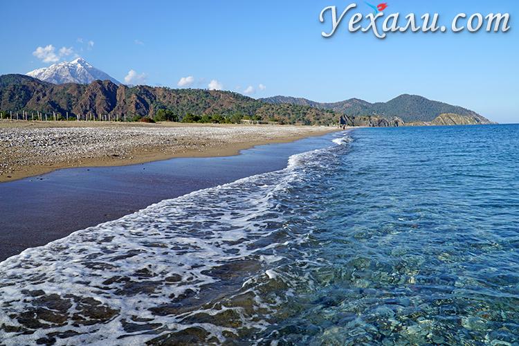 Как выглядят самые красивые пляжи Турции без туристов: пляж Чиралы.